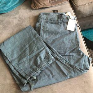 Linen blue pants